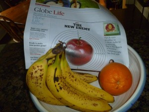Bananas with the Globe and Mail