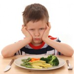 Child resists eating vegetables