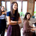 Chinese mother with musically gifted children