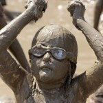 Girl playing in mud - hygeine hypothesis