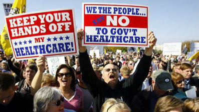 Health care reform opposition protesters