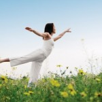 Healthy lifestyles yoga pose