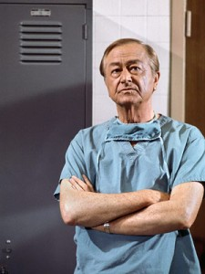 Marcus Welby in scrubs