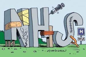 Failing NHS cartoon