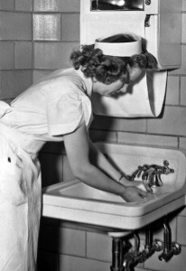 Nurse washing hands