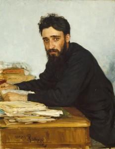 Portrait of Garshin by Ilya Efimovich Repin