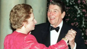 Reagan and Thatcher dance